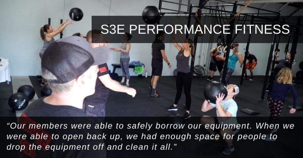 """""""Our members were able to safely borrow our equipment. When we were able to open back up, we had enough space for people to drop the equipment off and clean it all."""""""